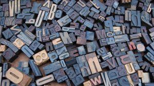 letter wood stamp